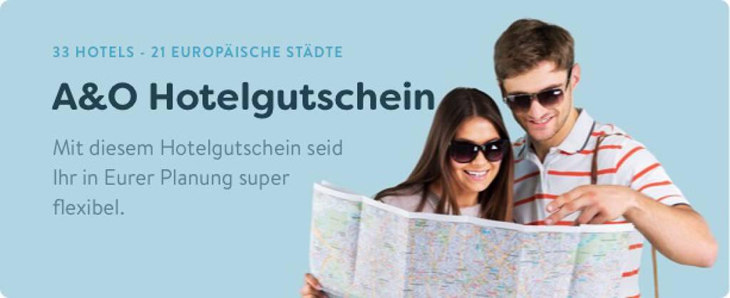 A&O Hotelgutschein - 33 Hotels in 21 europäischen Städten