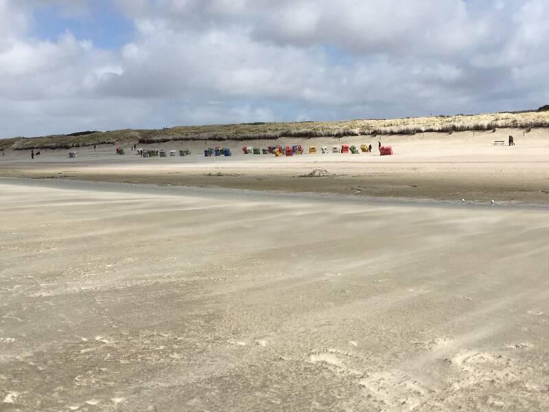 Kilometerlanger Sandstrand von Langeoog