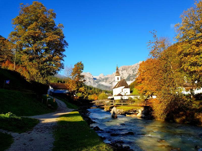 Ramsau bei Berchtesgaden ist vor allem wegen seiner Kirche bekannt