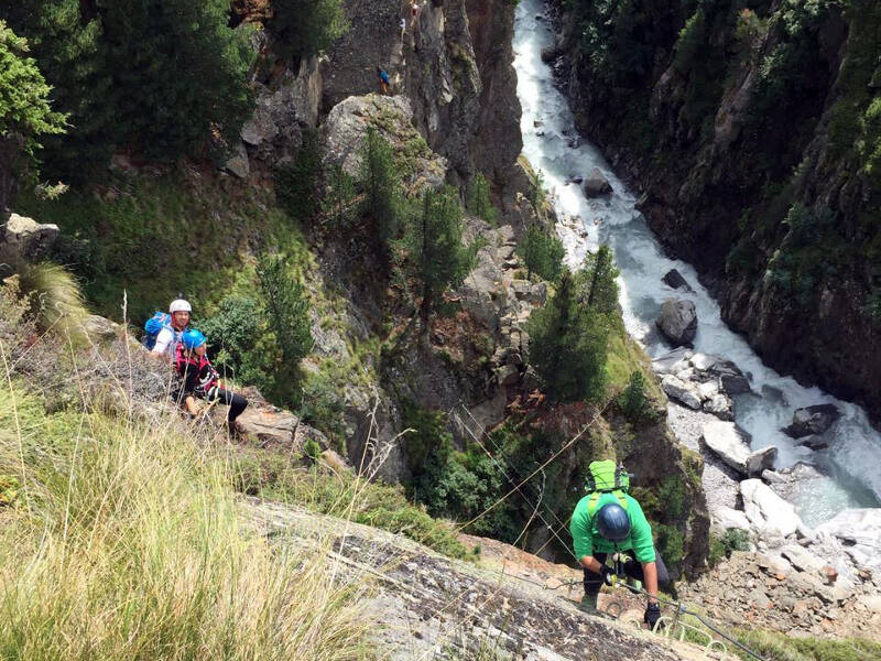 Im Zirbenwald in Sölden findet jeder Kletterer seine Herausforderung