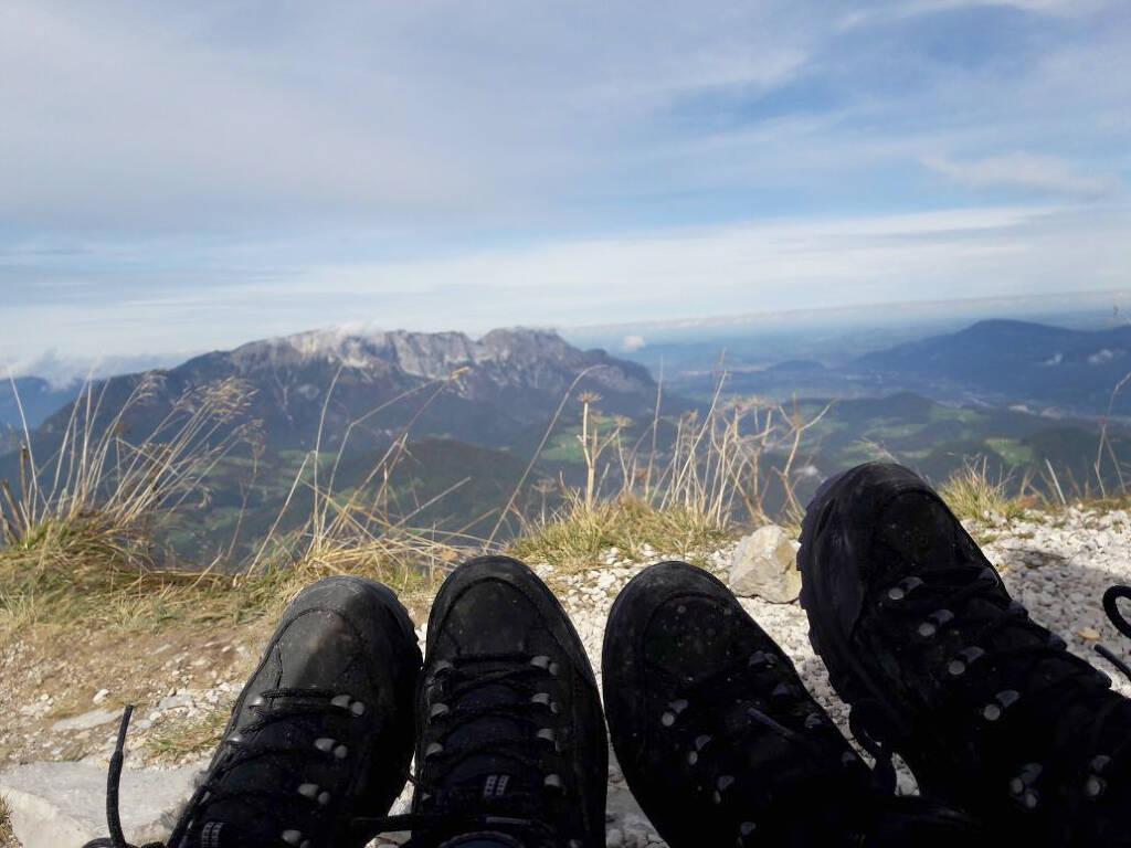 Vom Kehlsteinhaus aus hat man einen fantastischen Blick auf die Bergwelt